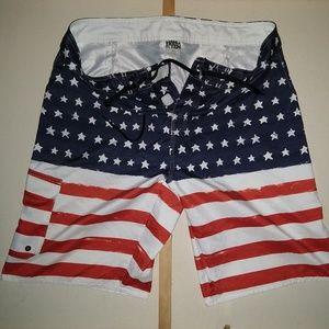 Hang Ten Size 36 American Flag Board Shirts